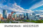 city skyline of calgary ... | Shutterstock . vector #602225225