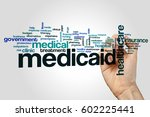 medicaid word cloud concept on... | Shutterstock . vector #602225441