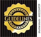 guidelines gold badge | Shutterstock .eps vector #602226959