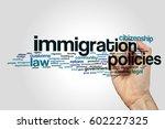 immigration policies word cloud ... | Shutterstock . vector #602227325