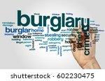burglary word cloud concept on... | Shutterstock . vector #602230475