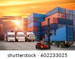 logistics and transportation of ... | Shutterstock . vector #602233025