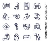 holding icons set. set of 16... | Shutterstock .eps vector #602238257