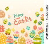 vector happy easter greeting... | Shutterstock .eps vector #602239859