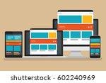 computer responsive concept... | Shutterstock .eps vector #602240969
