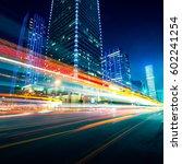 traffic through the modern city   Shutterstock . vector #602241254