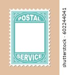 stamp shape blank placard.... | Shutterstock .eps vector #602244041