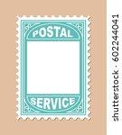 stamp shape blank placard.... | Shutterstock .eps vector #602244041