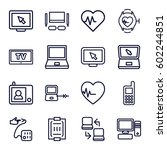 monitor icons set. set of 16...   Shutterstock .eps vector #602244851