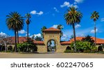 Small photo of Palo Alto, CA - Feb. 25, 2017: Entrance to Stanford University campus from courtyard. Stanford University is one of the world's leading teaching and research universities.