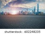 empty road textured floor with... | Shutterstock . vector #602248235