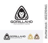 gorilla logo design. creative...   Shutterstock .eps vector #602250461