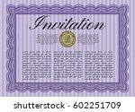 violet formal invitation.... | Shutterstock .eps vector #602251709