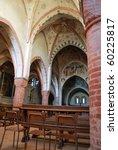 Viboldone abbey interior, San Giuliano Milanese, Milan, Italy - stock photo
