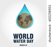 world water day | Shutterstock .eps vector #602258501