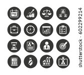 office icon set in circle... | Shutterstock .eps vector #602299214