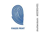 finger print card for identity... | Shutterstock .eps vector #602301431