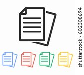 document vector icon.... | Shutterstock .eps vector #602308694