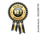 gold premium quality badge... | Shutterstock .eps vector #602308745