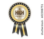 gold high quality badge rosette ... | Shutterstock .eps vector #602308751