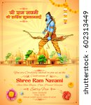 illustration of lord rama with... | Shutterstock .eps vector #602313449