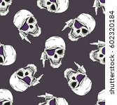 seamless pattern with pirates... | Shutterstock .eps vector #602320184