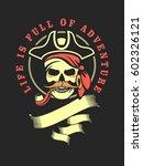 sailor skull logo signs on a...   Shutterstock . vector #602326121