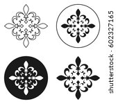 collection of fleur de lis... | Shutterstock .eps vector #602327165