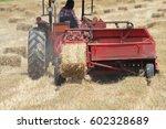 Field Of Hay Bales  Lines In...