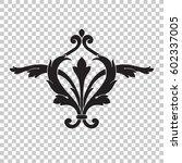 vintage baroque ornament retro... | Shutterstock .eps vector #602337005
