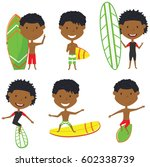 surfing african american male...