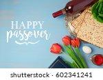 jewish holiday passover pesah... | Shutterstock . vector #602341241