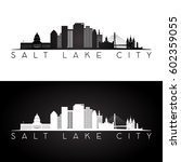 salt lake city usa skyline and... | Shutterstock .eps vector #602359055