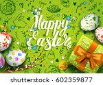 template vector card with... | Shutterstock .eps vector #602359877