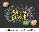 template card with hand drawn... | Shutterstock .eps vector #602362019