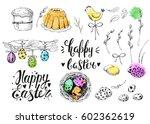 vector handwritten inscription... | Shutterstock .eps vector #602362619