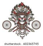 illustration of a dead indian...   Shutterstock . vector #602365745