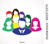 flat modern designn of the... | Shutterstock .eps vector #602371574