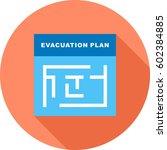 evacuation plan | Shutterstock .eps vector #602384885