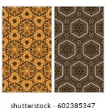 vertical seamless patterns set  ...   Shutterstock .eps vector #602385347