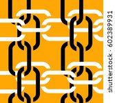 seamless chain pattern | Shutterstock .eps vector #602389931