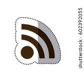 sticker brown silhouette wifi... | Shutterstock .eps vector #602392055
