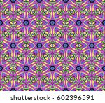 color ornamental flower design. ... | Shutterstock .eps vector #602396591