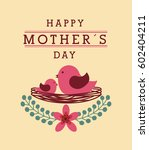 happy mother's day card with... | Shutterstock .eps vector #602404211