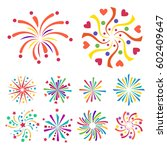 firework vector icon isolated... | Shutterstock .eps vector #602409647