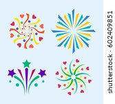 firework vector icon isolated... | Shutterstock .eps vector #602409851