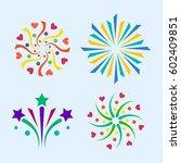 firework vector icon isolated... | Shutterstock .eps vector #602409851