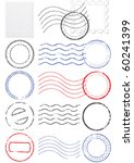 Vector Set Of Stamps And...