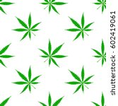 seamless pattern with cannabis... | Shutterstock .eps vector #602419061
