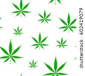 seamless pattern with cannabis... | Shutterstock .eps vector #602419079